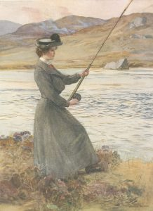 Frontispiece. Angling and Art in Scotland. Ernest E. Briggs. 1908